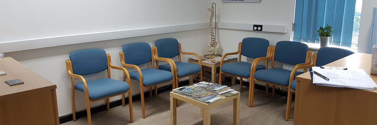 Inside of The Chartered Physiotherapy Clinic in Wrexham